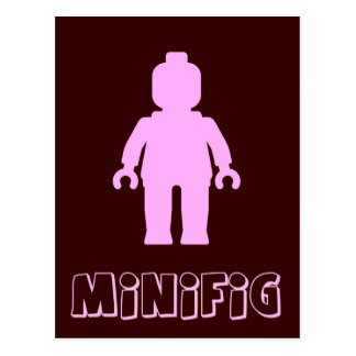 Minifig [Light Pink] by Customize My Minifig Postcard