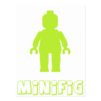 Minifig [Lime Green] by Customize My Minifig Postcard