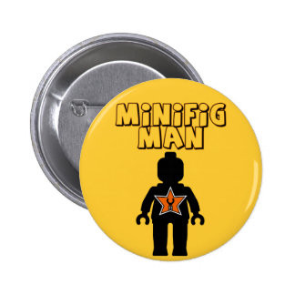 Minifig Man by Customize My Minifig Pin