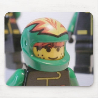 Minifig Motorcycle Stunt Team Mouse Pad