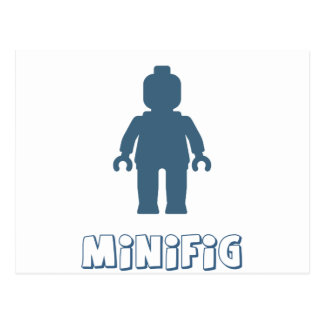 Minifig [Navy Blue] by Customize My Minifig Postcard