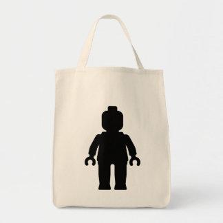 Minifig [negro grande] cerca modifica mi Minifig Bolsa Tela Para La Compra