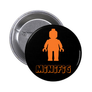 Minifig Orange by Customize My Minifig Pinback Buttons