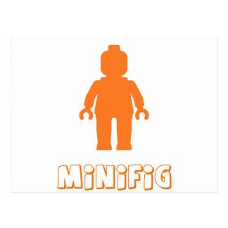 Minifig [Orange] by Customize My Minifig Postcard