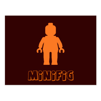 Minifig [Orange] by Customize My Minifig Postcard
