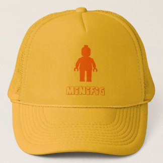 Minifig [Orange] by Customize My Minifig Trucker Hat