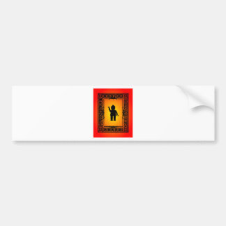 Minifig Parisian Wave by Customise My Minifig Bumper Sticker