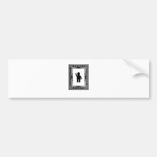 Minifig Parisian Wave by Customise My Minifig Car Bumper Sticker