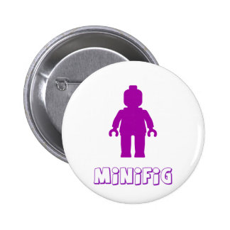 Minifig Purple by Customize My Minifig Pinback Button
