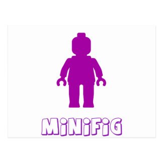 Minifig [Purple] by Customize My Minifig Postcard