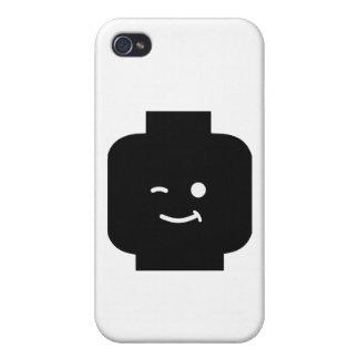 Minifig que guiña la cabeza cerca modifica mi Mini iPhone 4 Carcasa