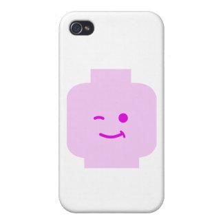 Minifig que guiña la cabeza cerca modifica mi Mini iPhone 4/4S Fundas