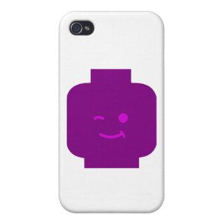 Minifig que guiña la cabeza cerca modifica mi Mini iPhone 4/4S Carcasa