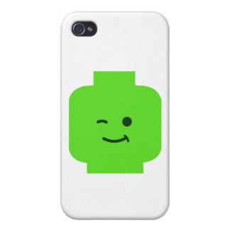 Minifig que guiña la cabeza cerca modifica mi Mini iPhone 4 Cobertura