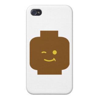 Minifig que guiña la cabeza cerca modifica mi Mini iPhone 4 Carcasas