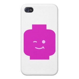 Minifig que guiña la cabeza cerca modifica mi Mini iPhone 4/4S Funda