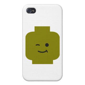 Minifig que guiña la cabeza cerca modifica mi Mini iPhone 4/4S Carcasas