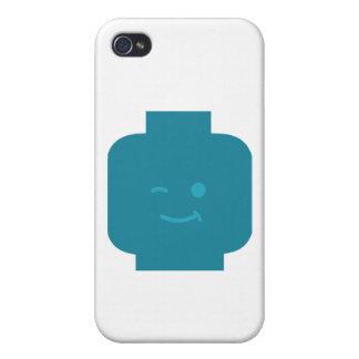 Minifig que guiña la cabeza cerca modifica mi Mini iPhone 4 Protectores