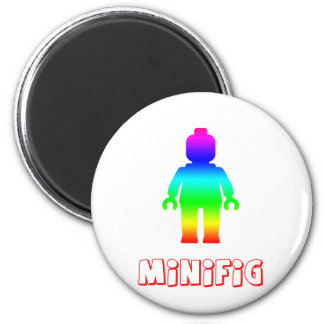 Minifig Rainbow 1 by Customize My Minifig Refrigerator Magnets