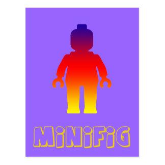 Minifig [Rainbow 2] by Customize My Minifig Postcard
