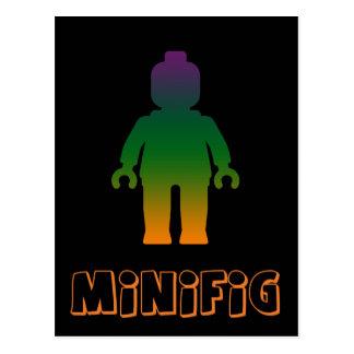 Minifig [Rainbow 3] by Customize My Minifig Postcard
