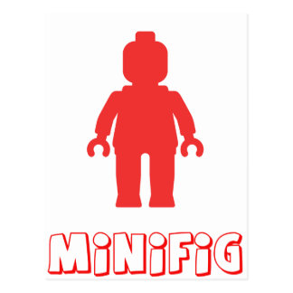 Minifig [Red] by Customize My Minifig Postcard