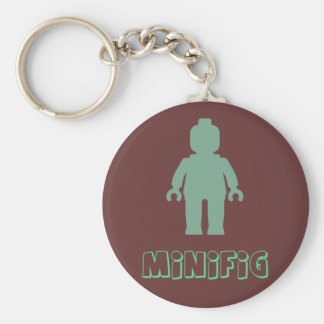 Minifig [Sand Green] by Customize My Minifig Basic Round Button Keychain
