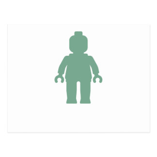 Minifig [Sand Green] by Customize My Minifig Postcard