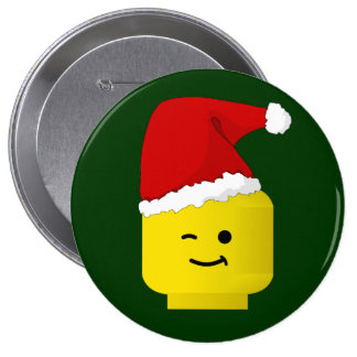 Minifig Santa by Customize My Minifig Pins