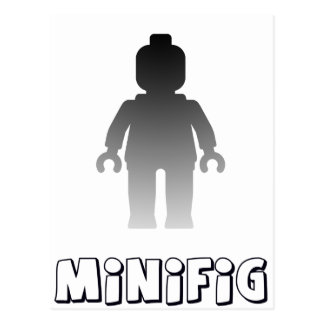 Minifig [Silver] by Customize My Minifig Postcard