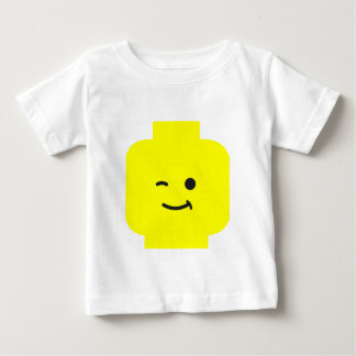 Minifig Winking Head by Customize My Minifig Baby T-Shirt