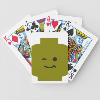 Minifig Winking Head by Customize My Minifig Bicycle Playing Cards
