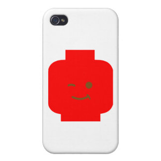 Minifig Winking Head by Customize My Minifig iPhone 4/4S Cover