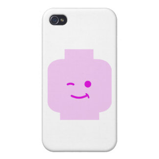 Minifig Winking Head by Customize My Minifig iPhone 4/4S Covers