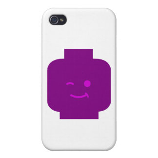 Minifig Winking Head by Customize My Minifig iPhone 4/4S Cases