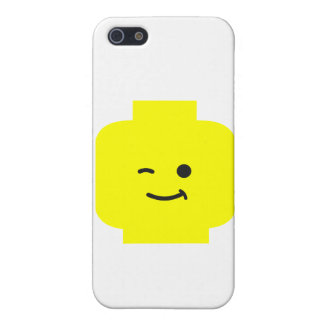 Minifig Winking Head by Customize My Minifig iPhone 5 Cases