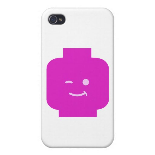 Minifig Winking Head by Customize My Minifig iPhone 4 Cover