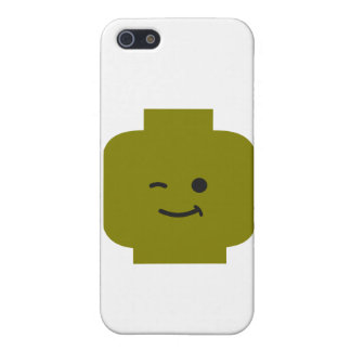 Minifig Winking Head by Customize My Minifig iPhone 5 Cover