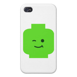 Minifig Winking Head by Customize My Minifig iPhone 4 Case