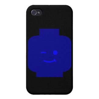 Minifig Winking Head by Customize My Minifig Covers For iPhone 4