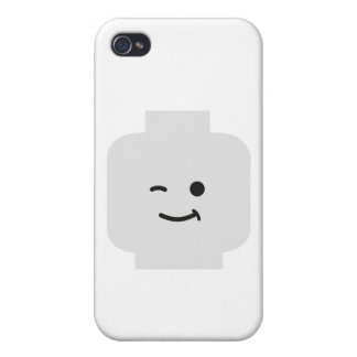 Minifig Winking Head by Customize My Minifig Cover For iPhone 4