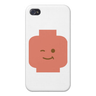 Minifig Winking Head by Customize My Minifig Case For iPhone 4