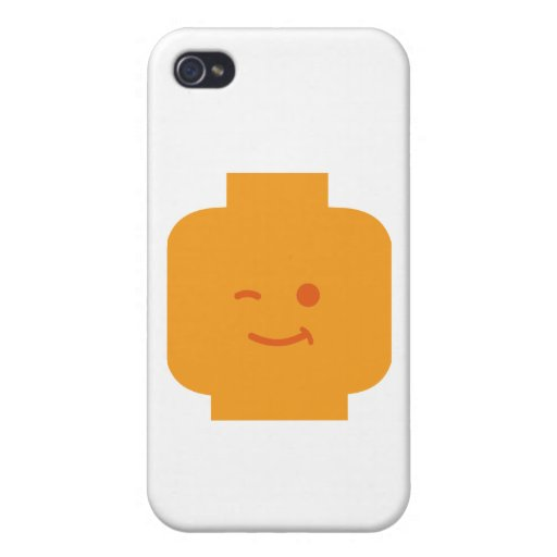 Minifig Winking Head by Customize My Minifig iPhone 4/4S Case