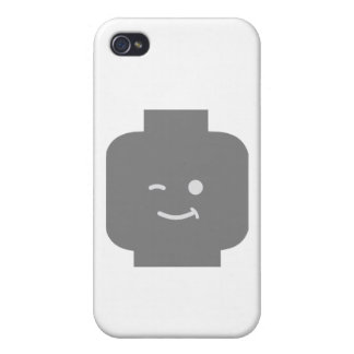 Minifig Winking Head by Customize My Minifig iPhone 4 Covers