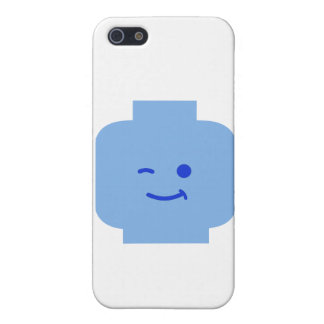 Minifig Winking Head by Customize My Minifig iPhone 5 Covers