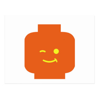 Minifig Winking Head by Customize My Minifig Postcard