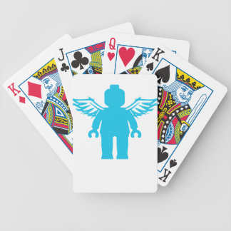 MINIFIG WITH ANGEL WINGS by CUSTOMIZE MY MINIFIG Bicycle Playing Cards