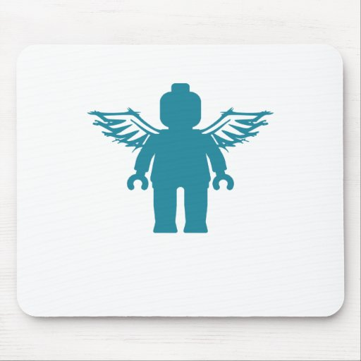 MINIFIG WITH ANGEL WINGS by CUSTOMIZE MY MINIFIG Mouse Pad