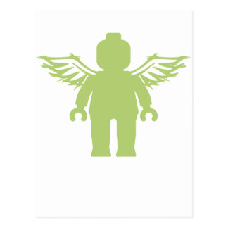 MINIFIG WITH ANGEL WINGS by CUSTOMIZE MY MINIFIG Postcard