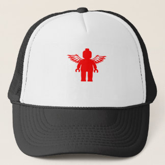 MINIFIG WITH ANGEL WINGS by CUSTOMIZE MY MINIFIG Trucker Hat